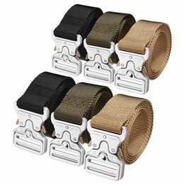 27373c671a4 Discount nylon belt metal buckle - Tactical Belts Military Nylon Belt Men  Adjustable Army Style Belts