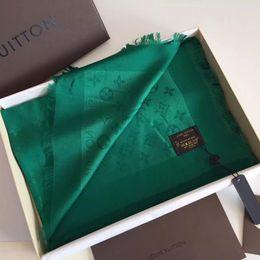 2019 sciarpa a righe bianche blu Classico lusso autunno e inverno nuovo design del marchio di moda in cotone sciarpa sciarpa lunga signora con etichetta 140x140cm