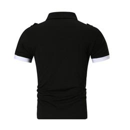 2019 серые рубашки поло Высокое качество рубашки поло Мужчины 2019 летний бренд человек рубашка поло бизнес повседневная хлопчатобумажная рубашка серый черный M-XXL скидка серые рубашки поло