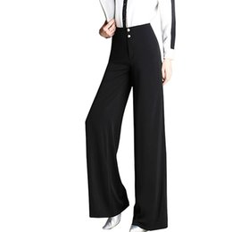 wide formal pants Coupons - Plus Size Wide Leg Pants 2018 Office Lady High Waist Formal Pants Casual Zipper Fly Straight Elegant Women Long Trousers