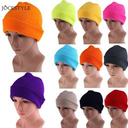 21 Colors High Quality Hats Female Winter Beanies Solid Candy Color Men  Women Warm Cuff Plain Knit Ski Long Beanie Skull Cap 65b52302eb99