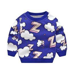 2019 maglie felpate Ragazze ragazzi Bambini Baggy Rainbow lettera z Felpa Top manica lunga Cloud T Shirt maglione cotone vestiti svegli sconti maglie felpate