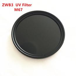 2019 cámaras de zoom largo M67 Pass Filter UV cámara ZWB3 UG5 T-330 con anillo de metal ultravioleta de paso de banda de cristal Negro