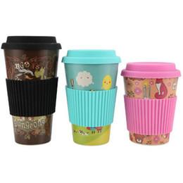 Copos de café eco friendly reutilizáveis on-line-Chegam novas moda Bambu xícara de café de fibra Eco Friendly Reutilizável copo de água de fibra de Bambu caneca de viagem 480 ml 420 ml e 350 ml de capacidade