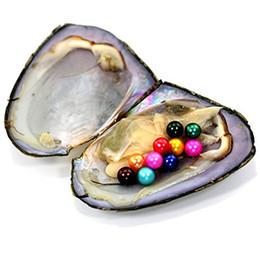 Argentina JNMM 20PCS / Lot ostra de agua dulce con TEN Granos Perla redonda 6-7mm Colores mezclados Regalo DIY Envasado al vacío Regalo de lujo (total 200 perlas) Suministro