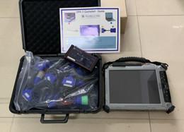 Comprimido opel on-line-Scanner de diagnóstico de caminhão diesel dearborn dpa5 sem bluetooth com laptop xplore ix104 c5 tablet conjunto completo de cabos