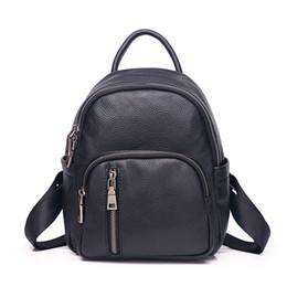 silber metallic farbe schultertasche Rabatt Hochwertige echte Leder Frauen Rucksack berühmte Designer Reisetasche aus echtem Leder Dame Umhängetasche 532