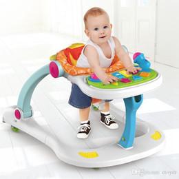 blaue wiege Rabatt Neues Puzzle Eradicate Baby Walker Baby Playstation Spielzeug Anti-Überschlag Stand-Up Kinderwagen Multi-Funktion