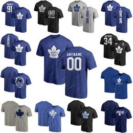 2019 john shirts 2019 New 91 John Tavares Toronto Maple Leafs Trikot 16 Mitch Marner 34 Auston Matthews Hockey T-Shirt Großhandel rabatt john shirts