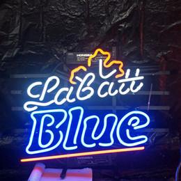 2019 enseignes au néon de bière de lune bleue LaBatt Blue Moon Marque De Bière Au Néon Conception Véritable Barre Publicitaire Décoration De La Maison Art Cadeau D'affichage Neon Light Cadre En Métal 17 '' 24 '' 30''40 '' enseignes au néon de bière de lune bleue pas cher