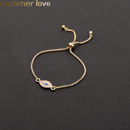 2019 joyería de ojo turco 2019 Trendy Oro Turco Evil Eye Bracelet Starfish Charm Blue Eye Gold Chain Bracelet Ajustable Para Mujeres Joyería Del Partido rebajas joyería de ojo turco