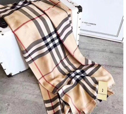long rayon cachecóis Desconto Inverno Cashmere Quente Cachecol Pashmina para mulheres e homens Marca Mens aquecer manta lenço da forma Mulheres imitar cachecóis de lã Cashmere 180x70cm