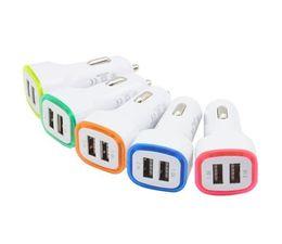 5 V 2.1A Çift USB Portları Led Işık Araç Şarj Adaptörü Evrensel Cep Telefonu için Şarj Adaptörü nereden liderliğindeki cep telefonu araba şarj cihazı tedarikçiler
