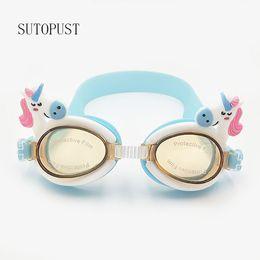 dbf662403a67 goggles cute girl Promo Codes - Adjustable swimming goggles kids children  Cartoon Cute water sports glasses