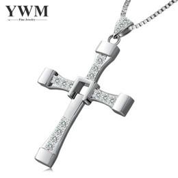 collana di passione Sconti YWM 925 Argento Velocità e Passione 8 Stessa versione Croce Collana con pendente per uomini e donne Vendita calda Collana fortunata Grande regalo