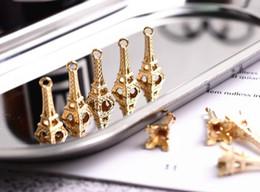 Canada 50 PCS DIY Bijoux 22 * 8mm Rétro Paris Tour Eiffel Collier Bracelet Pendentif pour La Fabrication de Bijoux DIY À La Main Bracelet Collier Offre