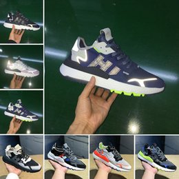 casual walking running shoes Promo Codes - 2019 Mens Nite Jogger Night Running Shoes Fashion CG7088 3M Popcorn Designer Shoes Sport Casual Walking Outdoors Athletic Sneakers