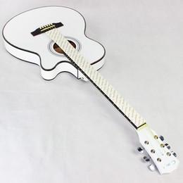 Белые гитарные струны онлайн-40 дюймов Ультратонкий гитарный корпус для бочек Белая баллада Этюд Укулеле Недостающий угол Музыкальные инструменты Туба Six Strings 215cyb1