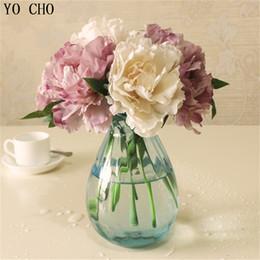 Décorations artificielles Fleurs séchées Cheap Tiffany Blue Artificielle Faux pivoine Soie Fleurs Bouquet De Mariée Arrangement De La Fleur Maison De Mariage ... ? partir de fabricateur