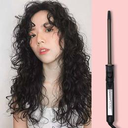 lisseur bouclé Promotion Fer à friser professionnel Curly Hair Stick Affichage numérique Ultra-fine électrique bigoudi rouleau Curling baguette
