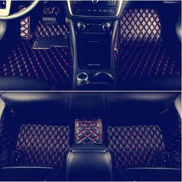Luces de piso online-Alfombrilla de coche para BMW X6 E71 F16 2008-2014 Alfombrillas de piso para todo tipo de clima Alfombra de alfombras (con luces debajo de los asientos traseros)