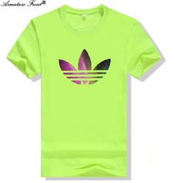 Coreano impreso tees hombres online-Moda multicolor Adi Print Men Tees algodón Sprots 2019 verano mujeres camiseta más el tamaño Pareja Punk Tops coreano camiseta verde C39