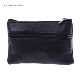 мягкий почтовый кошелек Скидка THINKTHENDO Soft Men Women Mini Card Coin Purse Key Holder Bag Multifunction Small Zip Leather Wallet Pouch Handbag Hot New 2018