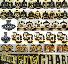 Camisetas de bobby orr online-2019 Stanley Cup Finals Boston Bruins Hockey 4 Bobby Orr Zdeno Chara Patrice 37 Bergeron 46 Krejci David 88 Pastrnak 40 Camisetas Tuukka Rask