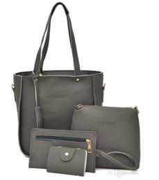 Tienda hermosa online-Venta caliente 30set / 120pcs 7 colores EUR de moda bolsos de compras de cuero hermosa señora bolso bolso de viaje de las mujeres de maquillaje bolso de hombro bolsos