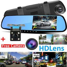"""rückspiegel gps android Rabatt Auto DVR 4,3 """"1080P Dual Lens Auto Dash Cam vorne und hinten Kamera Dashboard DVR Recorder"""