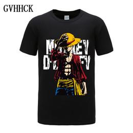 Anime de uma peça camiseta on-line-One Piece Luffy camiseta casual camiseta homme O pescoço streetwear homem t-shirt meninos roupas anime verão top tees
