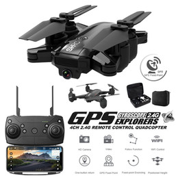 Pronti, partenza online-HYH1D GPS Drones con fotocamera hd Professional Drone gps Quadrocopter Rc Dron Set Point Fly 500 Metri 1080P Quadcopter Elicottero