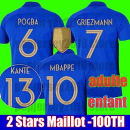 2f2b13ec1 22 fußball jerseys Rabatt Frankreich Fußball-Trikot 2019 FRANCE 100.  Geburtstag MBAPPE GRIEZMANN POGBA