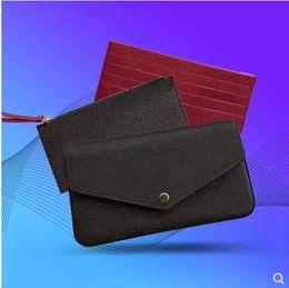 Scatola di marca della porcellana online-più nuovo marchio di lusso donne in vera pelle Designer spalla borse con scatola originale modello 61276 3pcs in set