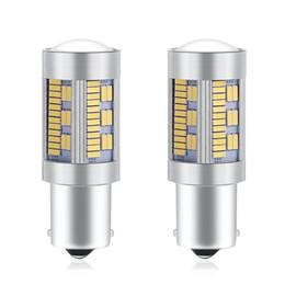 1156 ampoule ambre en Ligne-2 PCS LED 1156 P21W BA15S BAU15S PY21W T20 7440 Canbus Pas D'ampoule De Voiture Hyper Flash 2880Lm Clignotant De Lumière Inverse 4014SMD 105SMD Ambre