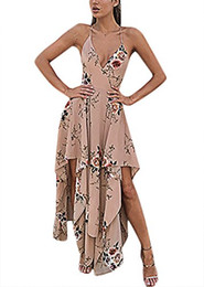 boho outfits Promo Codes - Luluka Women's Floral Print Maxi Skirt Set 2 Pieces Outfit Boho Dress