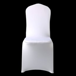 Astounding 100Pcs Cheap Hotel White Lycra Spandex Chair Cover Wedding Party Christmas Banquet Dining Office Stretch Polyester Chair Covers Creativecarmelina Interior Chair Design Creativecarmelinacom