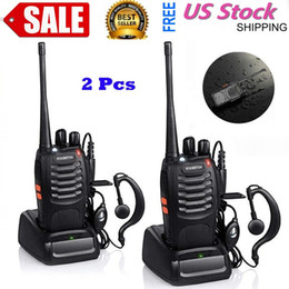 Talkie bf 888s on-line-BF-888S 5W 400-470MHZ 16-CH Handheld Walkie Talkies Black Dois Way Radio Interphone Mobile Portable Item quente