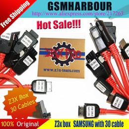 Desbloqueio de flash box on-line-Z3X Box Edition desbloqueia o reparo do flash para celulares Samsung com 30 cabos