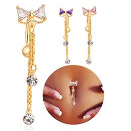 Venta moda mujer arco vientre ombligo anillo de oro Body Piercing joyas regalo desde fabricantes