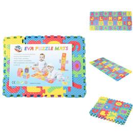 2019 tapis de jeu mous Puzzle de nombres de l'alphabet 36pcs de tapis de plancher de jeu de mousse molle d'enfants mignons de DIY tapis de jeu mous pas cher