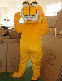 Argentina Personalizado profesional Garfield Cat traje de la mascota de dibujos animados gato amarillo personaje de fiesta de Halloween fiesta de disfraces Suministro