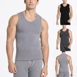 Erkek Yeni Siyah Plushed Sıcak ropa de hombre Monokrom O Boyun yelek gömlek Moda Pamuk Trim Kadife Yelek Bluz # 30 cheap cotton black trim nereden pamuklu siyah düzeltme tedarikçiler