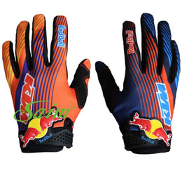 KTM Мотоциклетные перчатки с короткими пальцами для мотокросса Racing Gloves Riding Bike Gloves Велосипедный мотоцикл для гонщика от