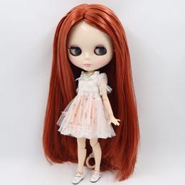 Capelli bianchi bambola online-vendita all'ingrosso Nude Factory Blyth Doll Series No. BL2361 / 0388 Arancione misto capelli grigi pelle bianca Joint body Neo BJD