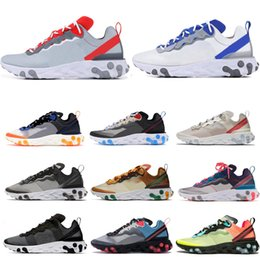 Las mejores zapatillas naranjas online-BEST Top react element 55 87 zapatillas de running para hombre mujer WHITE ROYAL RED triple black Orange Peel zapatillas de deporte para hombre zapatillas deportivas runners