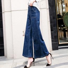d100b3580fe1 Vintage High Waisted Flare Jeans Women Wide Leg Mom Jeans Plus Size Flare  Woman Denim Trouser Loose Bell-Bottoms Denim Pan