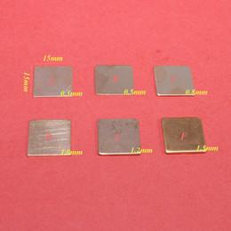 Vga dissipador de calor on-line-ChengHaoRan 15x15x0.3 / 0.5 / 0.8 / 1.0 / 1.2 / 1.5mm DIY Calço De Cobre Almofada Térmica Folha Do Dissipador De Calor Para Laptop CPU GPU VGA Chip de RAM de refrigeração