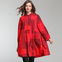 cabelos gordurosos Desconto Gordura mm tamanho grande das mulheres 2019 primavera nova moda solta tamanho grande impressão camisa das mulheres uma geração de cabelo F262