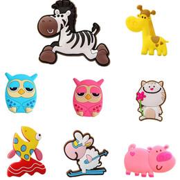 animais magnéticos para refrigerador Desconto Girafa Coruja Cat Pig Peixe criativas Sheep Imã para Crianças Small Size Silicon Gel Magnetic Ima de Animais Ímãs